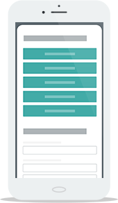 Responsive donation forms on a phone