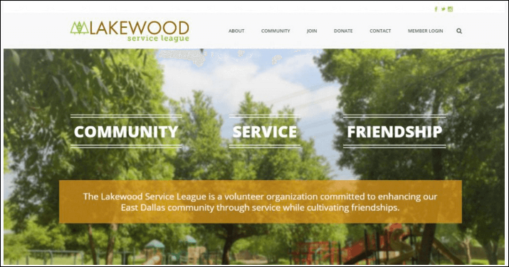 Lakewood has employed an effective nonprofit website design.