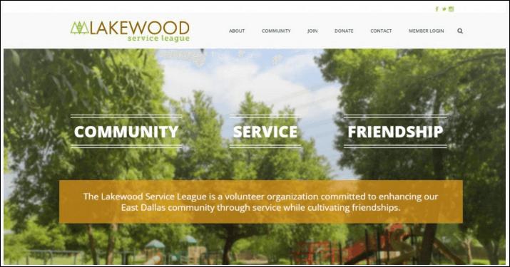 Lakewood has employed an effective nonprofit website design.