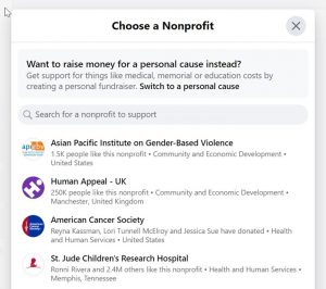 Step 5:Search for your nonprofit.