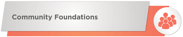 Community foundations can give nonprofit donations.