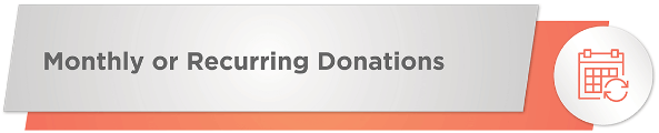 Your organization can receive nonprofit donations through recurring gifts.