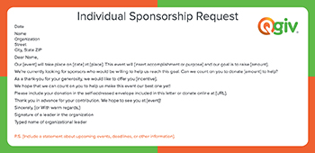 9 awesome and effective fundraising letter templates individual sponsorship request this is a fundraising letter template for an individual sponsorship request altavistaventures Image collections
