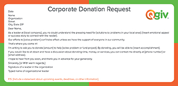 donation letter for non profit