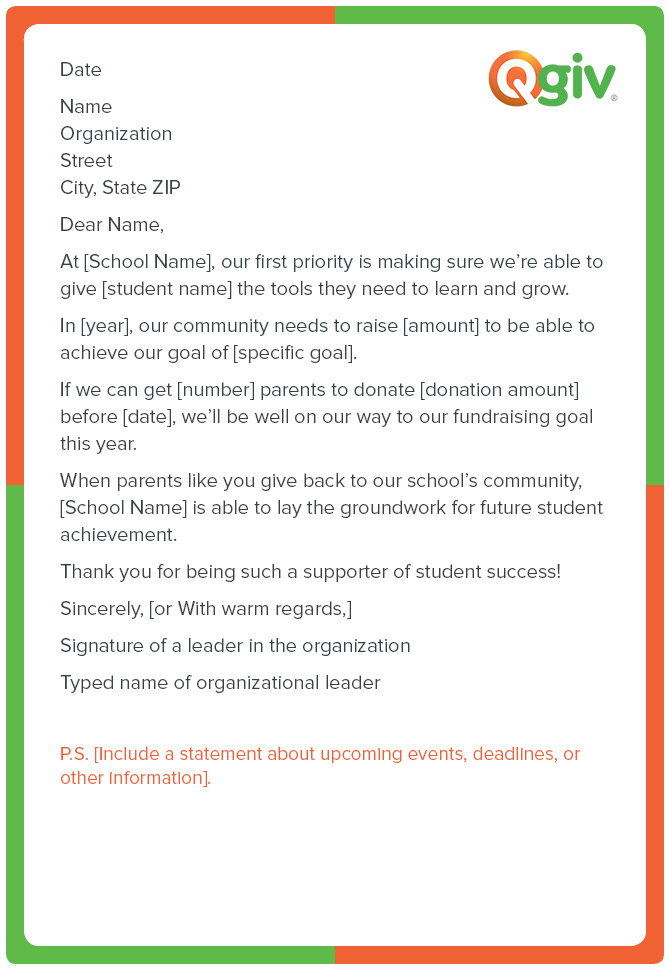 9 awesome and effective fundraising letter templates a school fundraising letter template like this one will make asking for donations to your school expocarfo Gallery