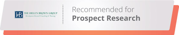Helen Brown Consulting is a great fundraising firm for prospect research.