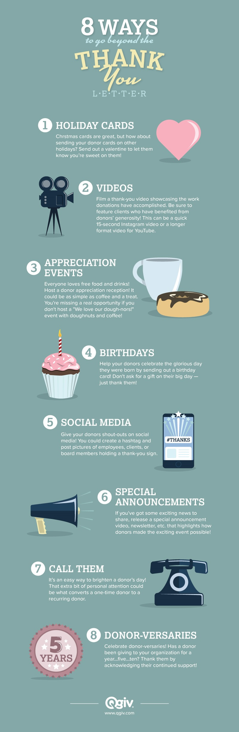 Infographic  Ways To Go Beyond The ThankYou Letter  Qgiv Success
