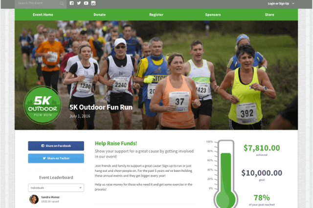 Peer-to-peer fundraising software can help you build awesome pages like this one! Keep reading to see more of Qgiv's software in action.