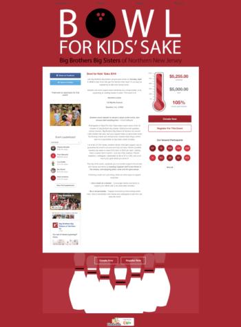 The Big Brothers Big Sisters Bowl For Kids Sake fundraiser met its goal through Qgiv's peer-to-peer fundraising software.