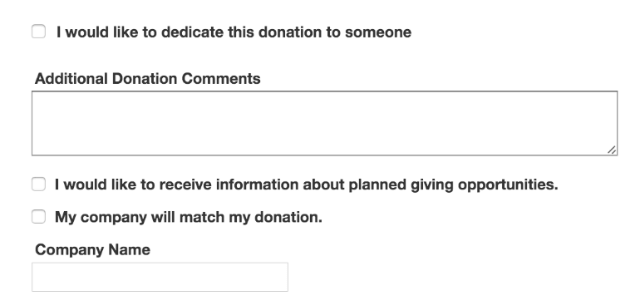 Boys and Girls Club is an organization with great donation forms. Check out these other giving options, which are cleanly aid out in Qgiv's donation form software.