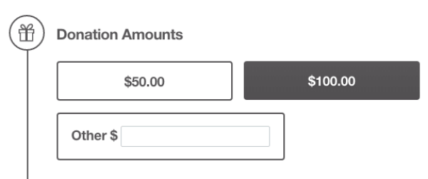 With different donation options, it's easy for you to segment your donors during your peer-to-peer campaign. Simple peer-to-peer software that allows you create giving levels is important to the success of your campaign.