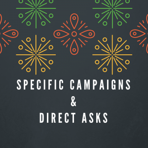 Incorporate mobile giving into your specific campaigns and direct asks