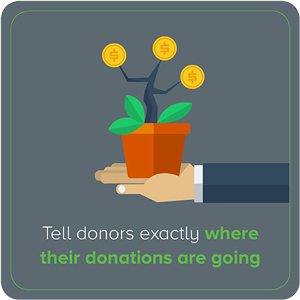 Tell Donors Exactly Where Their Donation is Going