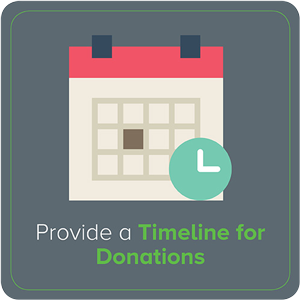 Provide a Timeline for Donations