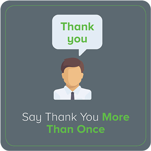 Say Thank You More Than Once