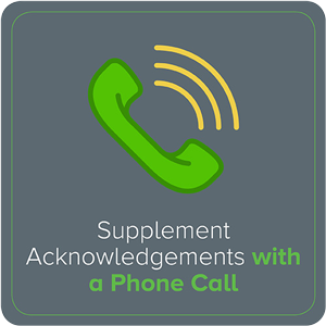 Supplement Acknowledgments with a Phone Call