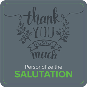 Personalize the Salutation