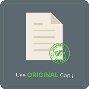 Use Original Copy