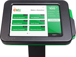 Check out Qgiv's kiosk software.