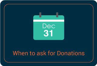 Ask for donations during your end-of-year fundraising.