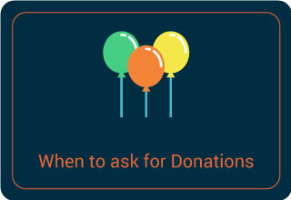 Ask for donations at events.