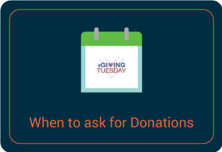 Ask for donations on #GivingTuesday.
