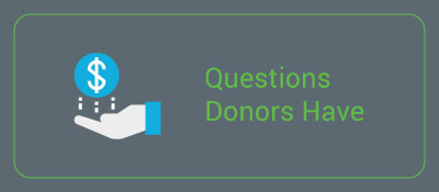 Here are some FAQs donors have.
