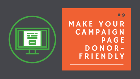 Make your donation campaign page donor-friendly