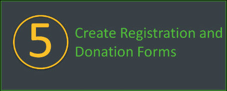 Create registration and donation forms for your walkathon or bikeathon.