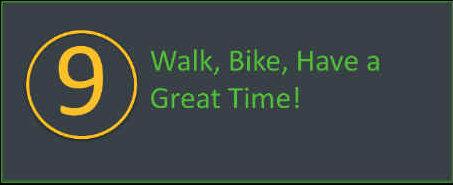 Enjoy your walkathon or bikeathon.