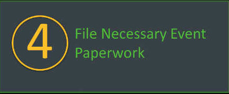 File necessary paperwork for your walkathon or bikeathon.