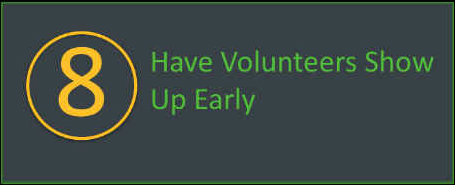 Have volunteers show up early to your walkathon or bikeathon.