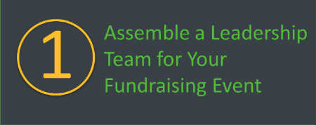 Assemble a leadership team for your walkathon or bikeathon.