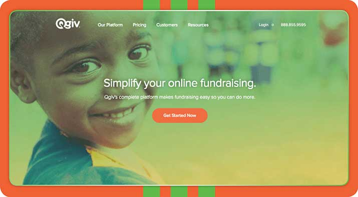 Qgiv is a great peer-to-peer fundraising platform.