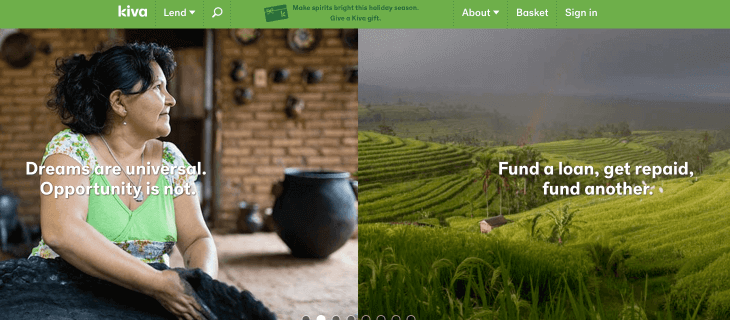 Kiva is a peer-to-peer fundraising platform with a microlending model.