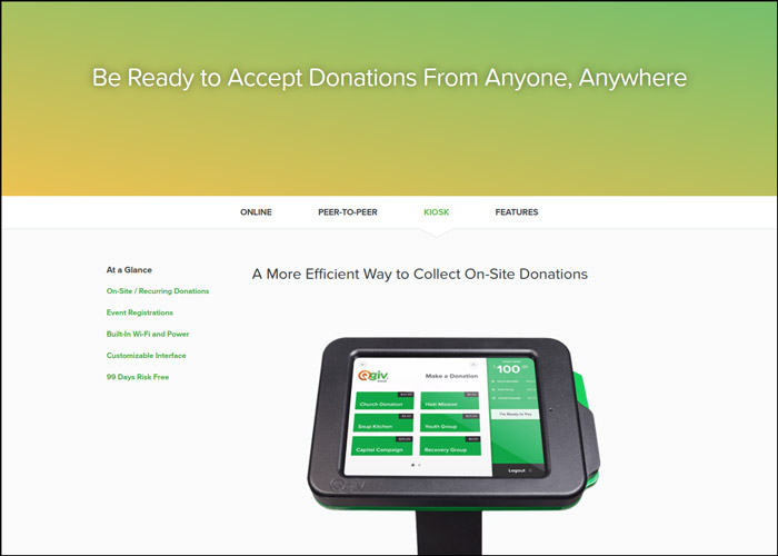 Check out Qgiv's donation kiosks as one of your church fundraising ideas.