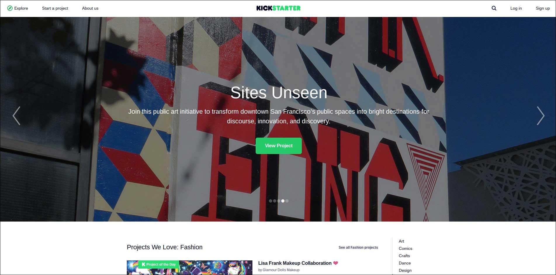 Accept online donations with Kickstarter