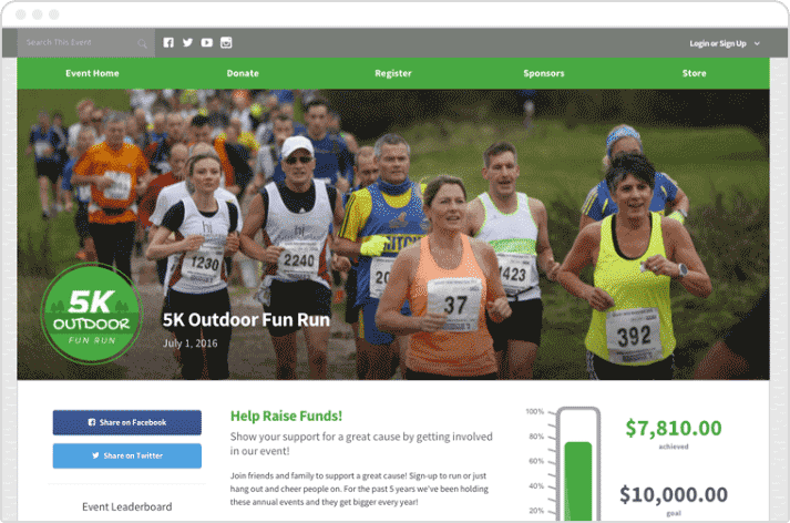 Take a look at Qgiv's online giving and peer-to-peer fundraising platform and how it helped the 5K Outdoor Fun Run.