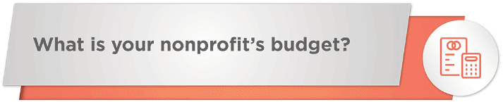 What is your nonprofit's budget for your online fundraising platform?