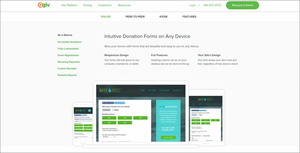 Accept online donations with Qgiv
