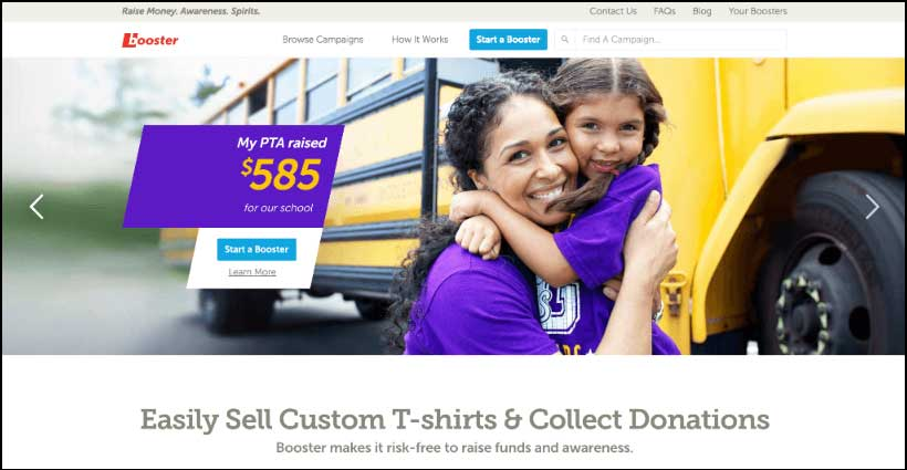 Accept online donations with Booster
