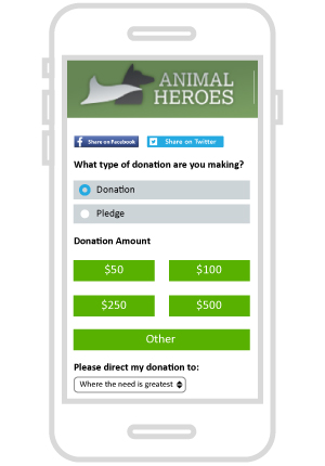 Check out this mobile online giving page.