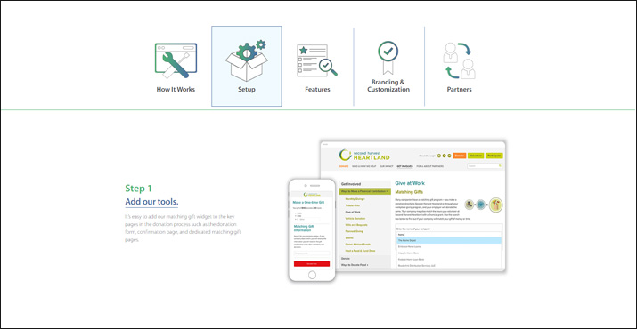 360MatchPro is a powerful online donation tool for nonprofits ready to make the most of their matching gifts efforts.