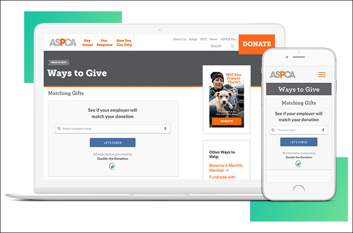 Consider using Double the Donation's matching gift database to boost giving to your school or club.