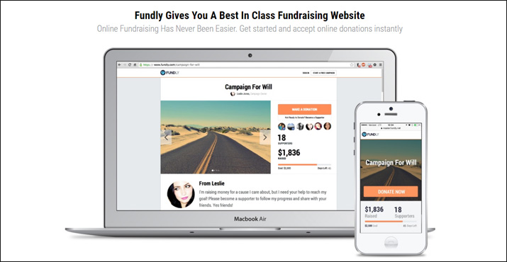 Fundly is a great online donation tool for crowdfunding.