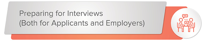 Prepare for development director interviews both on the applicant and employer's side.