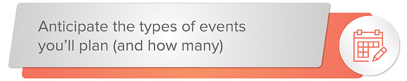 Event management software is often priced by how many events you can plan per year, so look for software that offers as many events as you need.