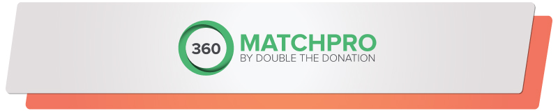 360MatchPro's automated matching gifts database makes this a formidable online fundraising software.