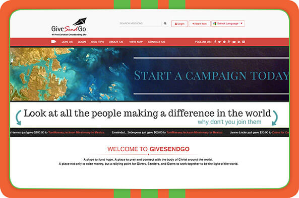 Check out GiveSendGo's website to learn more about accepting online donations for churches.
