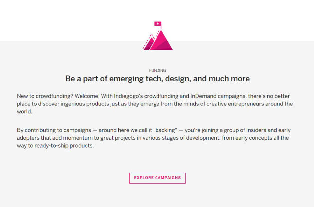 Learn more about starting a creative campaign on Indiegogo.